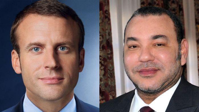 الملك يجري اتصالا هاتفيا مع الرئيس الفرنسي ماكرون   www.le360.ma