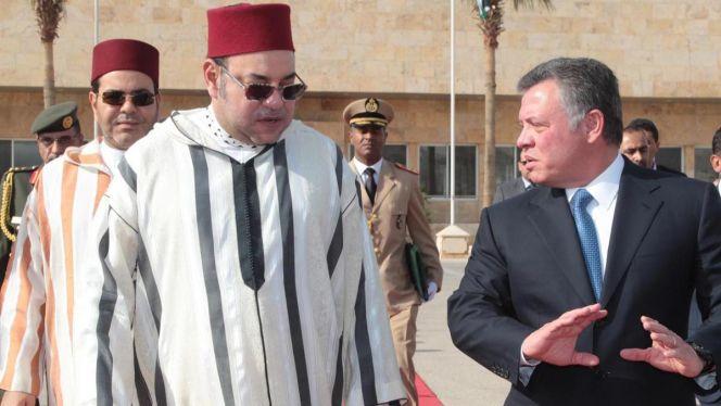 الملك محمد السادس والملك عبد الله