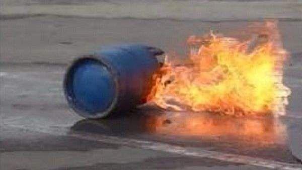 انفجار قنينة غاز
