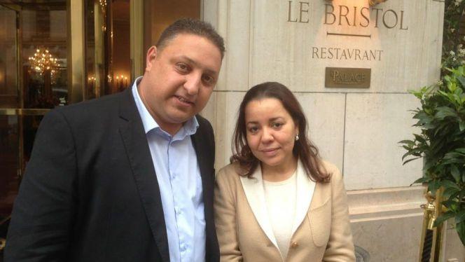 الصحفي محمد واموسي رفقة الأميرة لالة أسماء