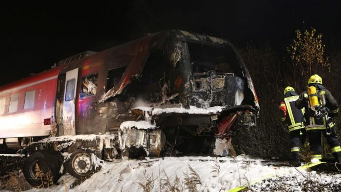 اصطدام قطار بألمانيا