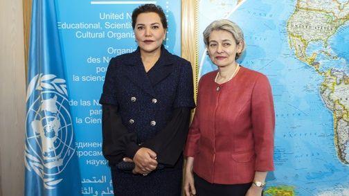 الأميرة للا حسناء مع المديرة العامة لليونسكو