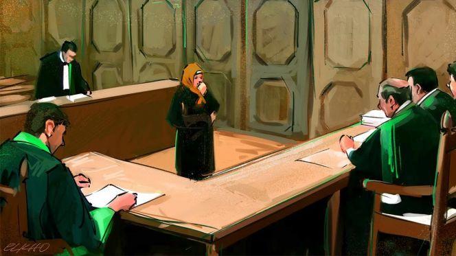 محاكمة متهمة