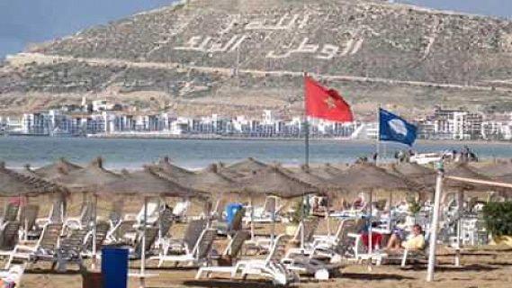رفع اللواء الأزرق بشاطئ أكادير