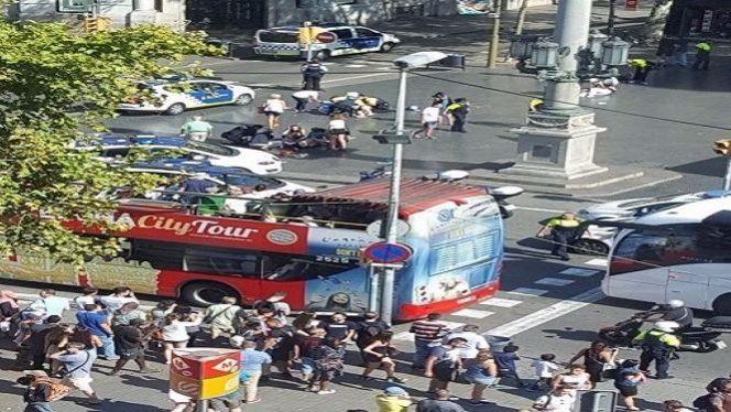 حادث دهس برشلونة