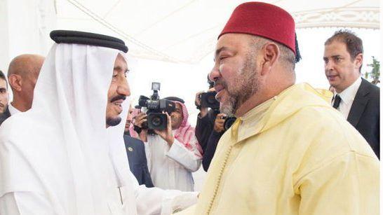 الملك محمد السادس والملك سلمان