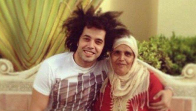 الجريني ووالدته