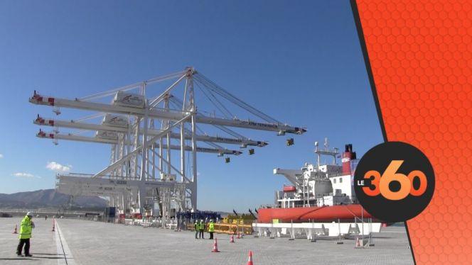 cover:  رافعات عملاقة من الصين برصيف ميناء طنجة المتوسط الجديد