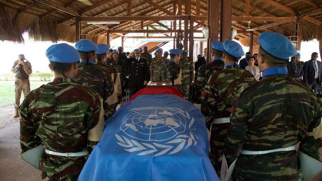 جنازة جندي مغربي ضمن بعثة مينوسكا