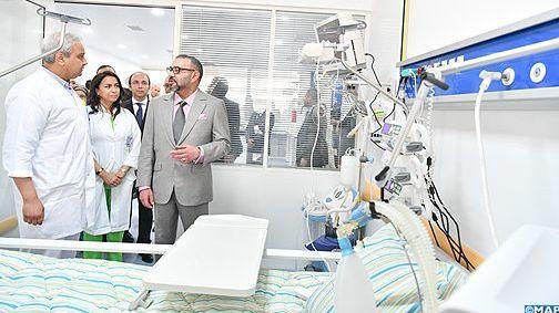 الملك يدشن مستشفى مولاي عبد الله بسلا