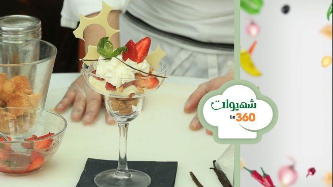 cover: شهيوات le360:كأس حلوى بالكريمة والفراولة