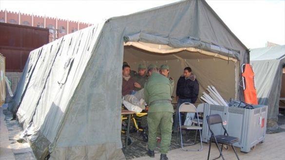 مستشفى ميداني مغربي بقطاع غزة