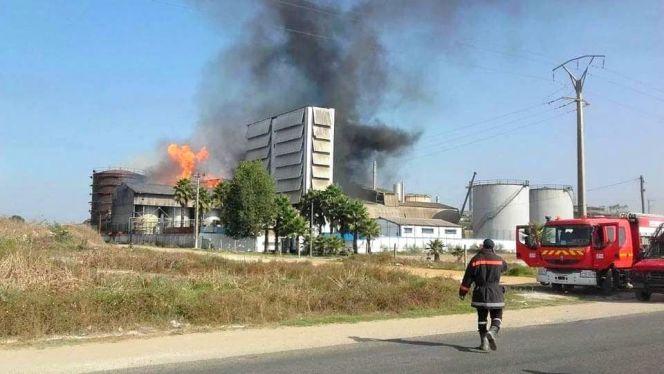 حريق بمعمل