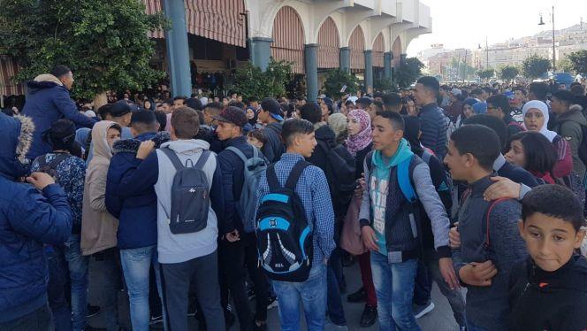 احتجاج تلاميذ طنجة 3