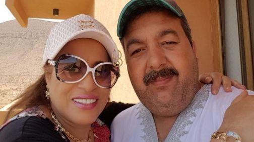 نجاة اعتابو وزوجها