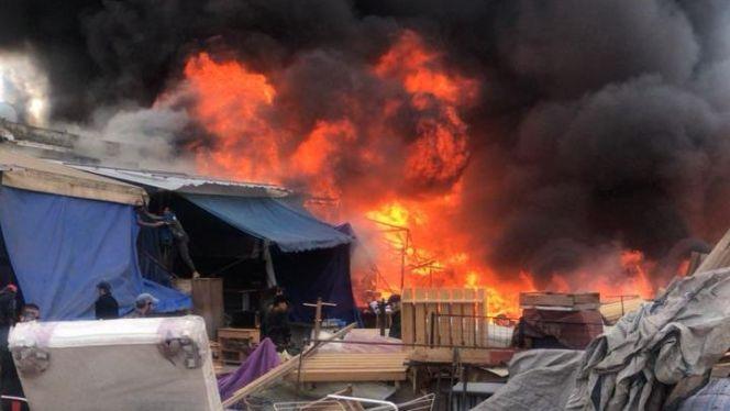 حريق سوق ولد مينة