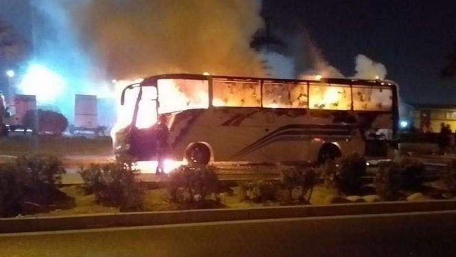 حريق حافلة بإنزكان 1