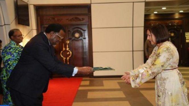 رئيس ناميبيا يستقبل السفيرة المغربية سعدية العلوي
