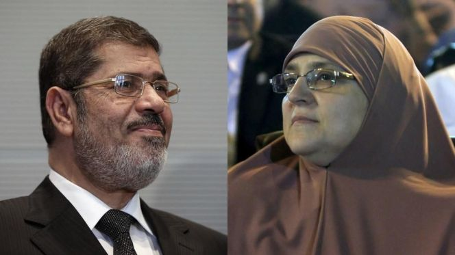 مرسي وزوجته