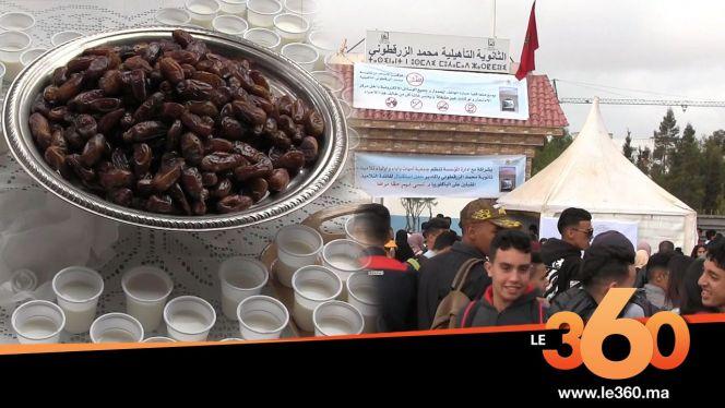 Cover_Vidéo: Le360.ma •روبورتاج: ثانوية بأكادير تستقبل مترشحي الباكلوريا بالتمر والحليب