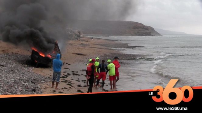 غلاف فيديو - هكذا وقعت فاجعة غرق 42 مهاجرا سريا بسواحل سيدي إفني