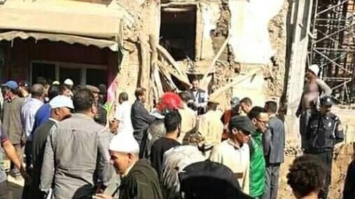انهيار سور مسجد بتارودانت 2