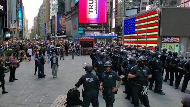 الاحتجاجات في نيويورك