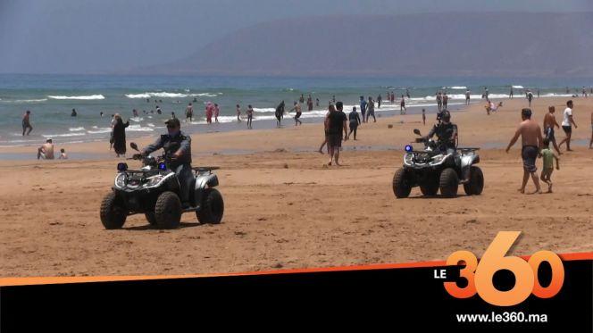 Cover_Vidéo: شاطئ إمي ودار بأكادير يستهوي المصطافين بعد تخفيف الحجر
