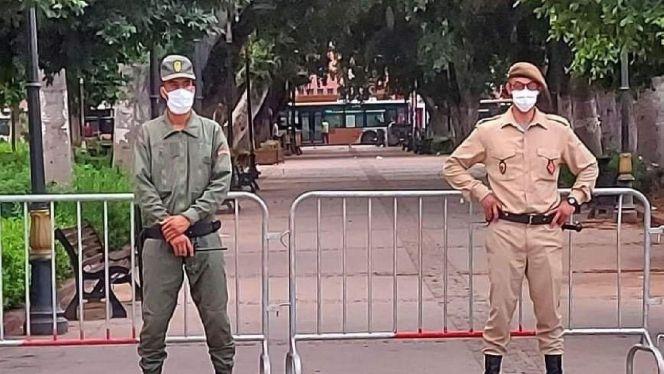 بالصور: السلطات بمراكش تقرر إغلاق الفضاءات الخضراء بالمدينة