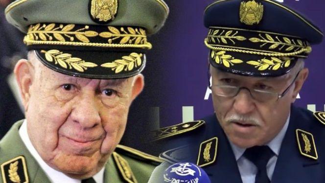 الجنرال سعيد شنقريحة (يسارا) ومحمد صلاح بنبيشة