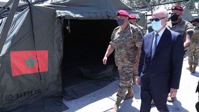قائد الجيش اللبناني يزور المستشفى الميداني المغربي ببيروت 1