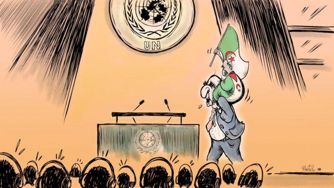 كاريكاتير دعم تبون للبوليساريو
