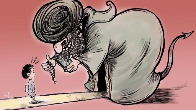 كاريكاتير البيدوفيليا