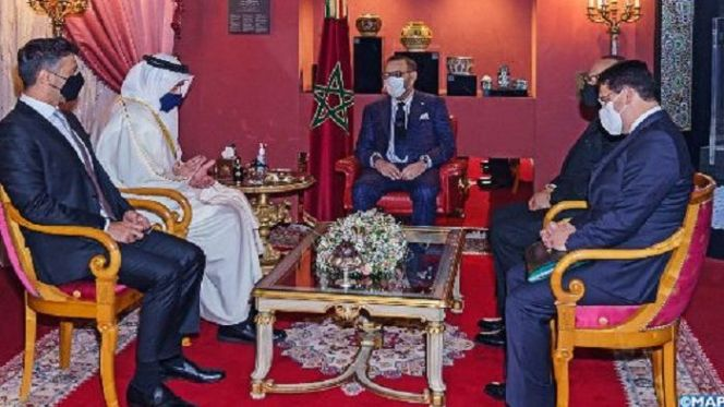 الملك يستقبل وزير الخارجية والتعاون الدولي الإماراتي