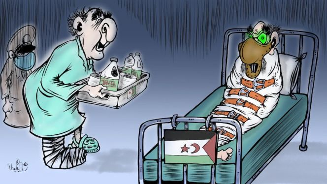 """كاريكاتير: المريض تبون """"يرعى"""" دُميته الانفصالية"""