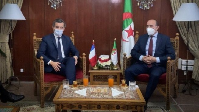 وزير الداخلية الفرنسي ونظيره الجزائري