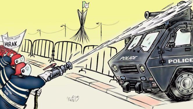 كاريكاتير حراك الجزائر