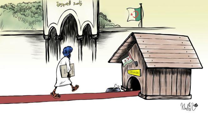 كاريكاتير: السفير المزعوم للبوليساريو بالجزائر يُسلّم أوراق اعتماده لسيّده تبون