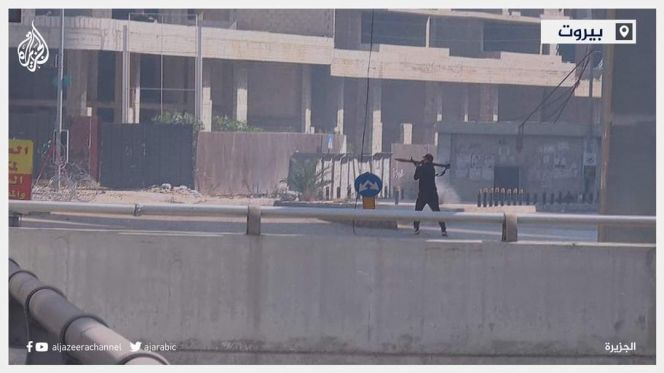 مسلح وسط بيروت