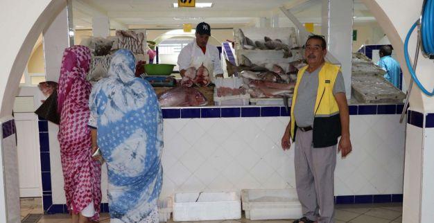سوق السمك النموذجي بالعيون