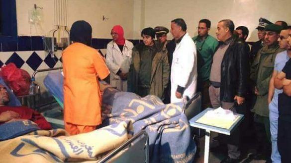 مسؤولو أكادير في زيارة للمصابين بالمستشفى