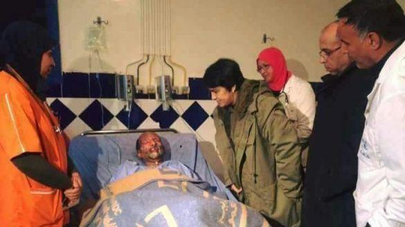 الوالي زينب العدوي في زيارة للجرحى