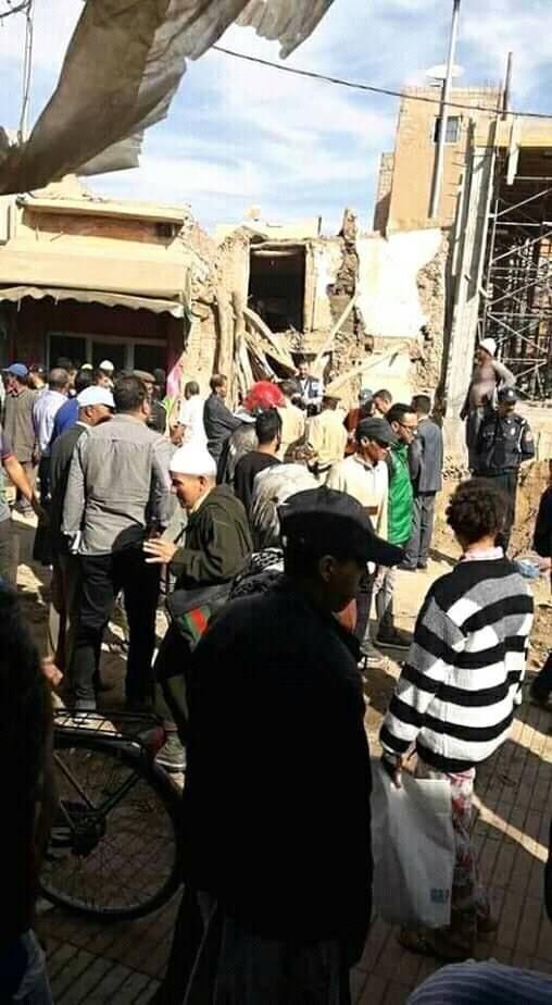 انهيار سور مسجد بتارودانت 3