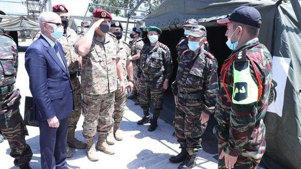قائد الجيش اللبناني يزور المستشفى الميداني المغربي ببيروت 2