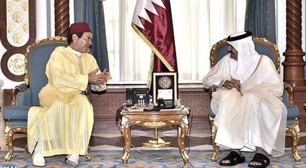مولاي رشيد مع أمير قطر
