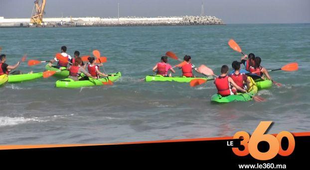 Cover_Vidéo: Le360.ma •اطفال طنجة يجتاحون الشاطئ البلدي لاستكشاف رياضة الكاياك