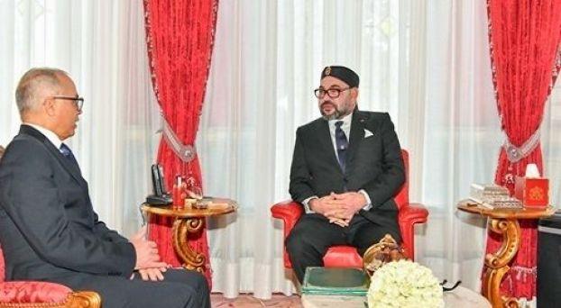 الملك محمد السادس وشكيب بنموسى