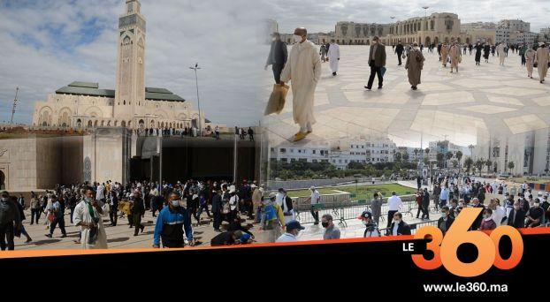 cover vidéo :Le360.ma •مسجد الحسن الثاني يحتضن أول صلاة جمعة في ظل انتشار كورونا