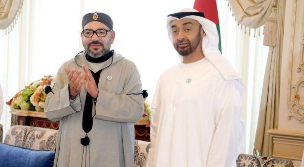 الملك محمد السادس والشيخ محمد بن زايد آل نهيان