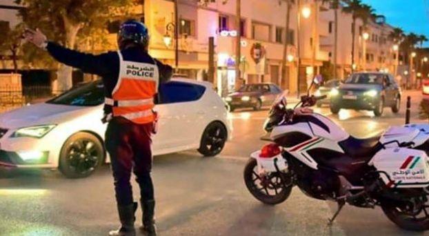 شرطة تفرض تدابير كورونا